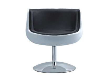 Барное кресло A 340-1 (white shell/black seat PU) Cognaс chair