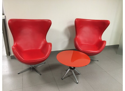 Кресло EGG CHAIR (ARNE JACOBSEN STYLE) A 219 красное