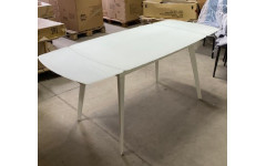 Стол ELIOT 120 Frosted Super White glass+White