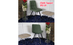 СТУЛ CHILLI SQUARE RU-01 PU МАЛАХИТ, PU